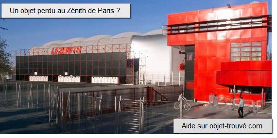 Objets trouvés au zénith de Paris