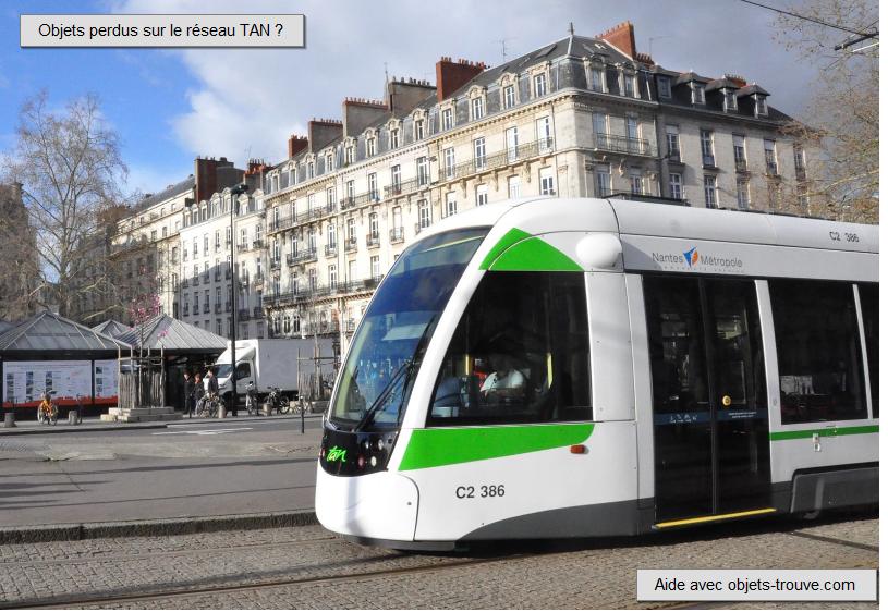 Objets trouvés TAN Nantes
