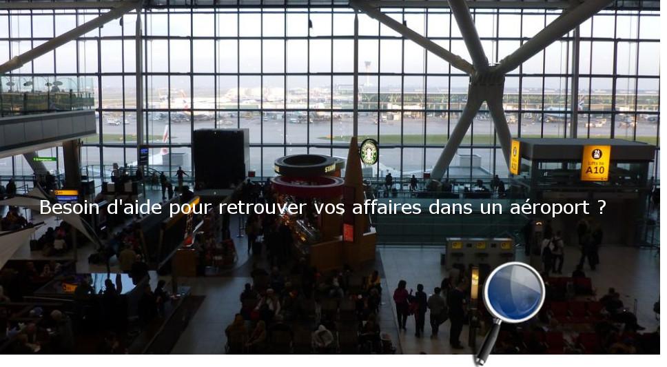 objets perdus aéroports